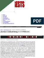 Jocelyn Limkaichong vs COMELEC   Uber Digests