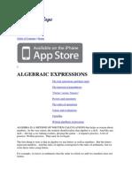 S k i l l Algebraic Expressions