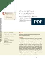 Genetics of Climate Change Adaptation