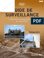 Guide de Surveillance – Chantiers d'Infrastructures de Transport, 2011