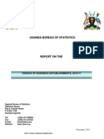 UGANDA BUREAU OF STATISTICS CENSUS OF BUSINESS ESTABLISHMENTS, 2010/11 REPORT ON