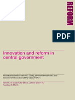 Innovation & Reform in Central Government