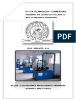 Fluid Mechanics and Hydraulic Machinery Lab Manual