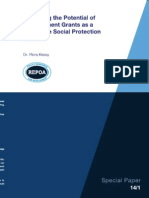 Assessing the Potential of Development Grants as a Promotive Social Protection Measure