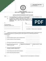 Provident Fund Transfer (Form 13)
