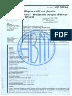 NBR 5383-1-2002 - Máquinas Elétricas Girantes - Parte 1 Motores de Indução Trifásicos - Ensaios