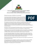 An Excerpt From President Joseph Michel Martelly