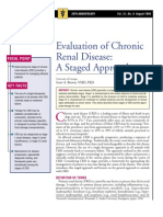 Evaluation of Chronic Renal Disease, A Staged Approach