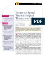 Exogenous Spinal Trauma-Surgical Therapy and Aftercare
