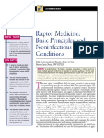 EXOTİC-Raptor medicine,basic principles and noninfectious conditions