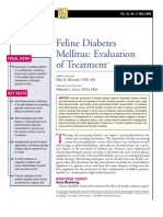 FELINE-Diabetes Mellitus-Evaluation of Treatment