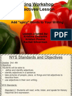 Writing Workshop Adjectives Lesson(2)