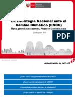 La Estrategia Nacional ante el  Cambio Climático (ENCC)