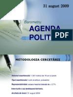 IRES Agenda Politica August 2009
