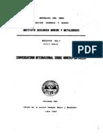 Boletin Nº 001-Conversatorio Internacional Sobre Minería Sin Rieles
