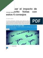 Maximizar El Impacto de Un Manuscrito