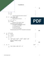 Redox Equilibria Mark Scheme