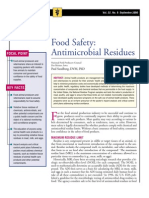 Food Safety,Antimicrobial Residues