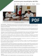 19-08-2014 Gestiona Gobernador Guillermo Padrés recursos para municipios del Río Sonora