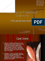 Metallurgical Properties of Cast Irons
