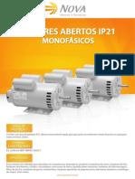 Nova - Motores Monofásicos Abertos IP21