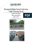 Roosevelt School sub-area traffic planning study draft