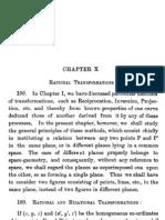 Ganguli, Theory of Plane Curves, Chapter 10