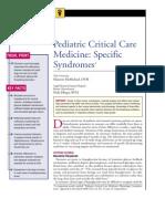 Pediatric Critical Care Medicine Specific Syndromes