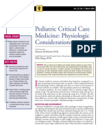 Pediatric Critical Care Medicine-physiologic Considerations