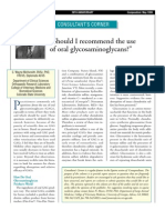 Should I Recommend the Use of Oral Glycosaminoglycans