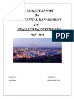 A Project Report on Working Capital2