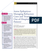 Status Epilepticus-Managing Refractory Cases and Treating Out-Of-hospital Patients