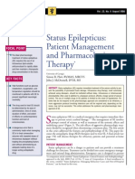Status Epilepticus-Patient Management and Pharmocologic Theraphy
