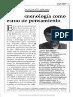 La Fenomenología Como Estilo de Pensamiento 8