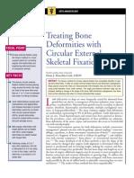 Treating Bone Deformities With Circular External Skeletal Fixation