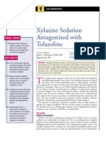 Xylazine Sedation Antagonized With Tolazoline