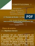 Aula 01 - D. Constitucional I - Introdução. Constitucionalismo