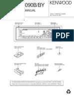 Manual de Radio Kdc-5090b, By