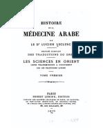 Histoire de La Médecine Arabe 1 - Leclerc (1876)