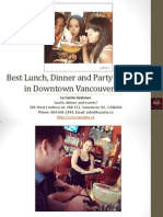 Best Lunch Dinner and Party Specials in Downtown Vancouver British Columbia