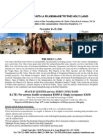 Pilgrimage to Holy Land FLYER Nov 2014