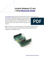 Communication Between Arduino and PC Using Bluetooth Shield