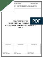Helium Leak Testing Procedure-Turbine Condenser Negative Pressure Parts