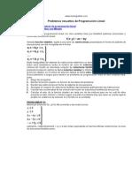 MatemáticaII Programación Lineal Problemas Resueltos