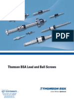 Thomson BSA Lead and Ball Screws Catalog