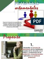 Presentacion Competencias Comportamentales Docentes 18 Agosto 2014