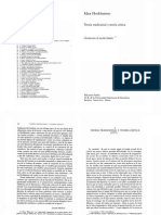 1_Horkheimer Teoria Tradicional y Teoria Critica