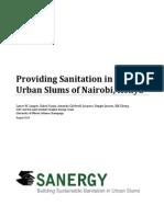 Providing Sanitation in Peri-Urban Slums of Nairobi, Kenya
