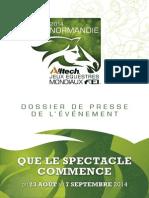 Jeux Equestres Mondiaux 2014 en Normandie - dossier de presse