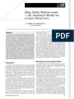 Waterflooding Under Bottom-water Conditions-An Analytical Model for Two-layer Reservoirs